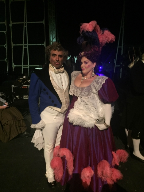 With Jodie Prenger in Les Mis - Dubai
