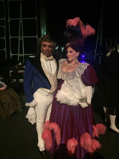 With Jodie Prenger in Les Mis - Dubai