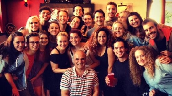 With Mountview Post Graduate students after rehearsals