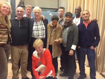 Recording with Roy Hudd and Adil (Mr Khan) Ray