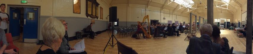 Pan of rehearsal room