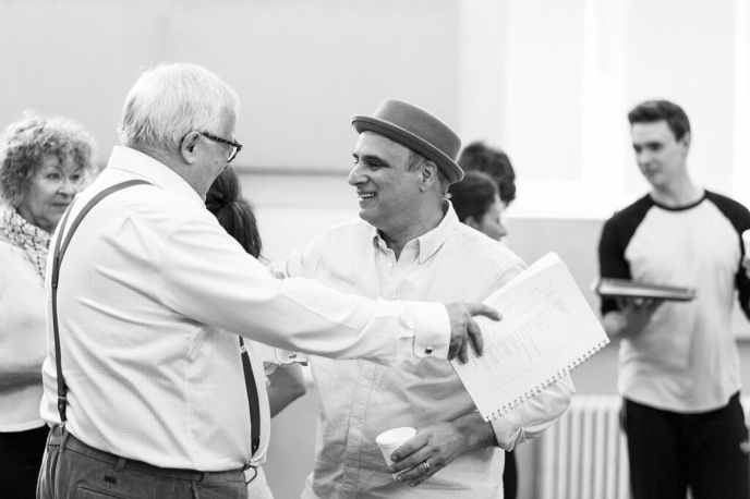 With Christopher Biggins who had to pull out due to illness