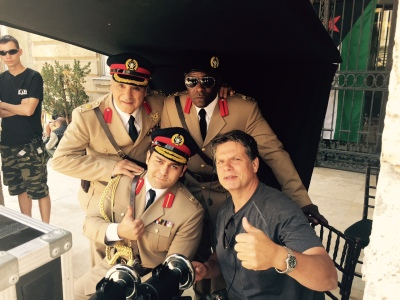 On the set of Tyrant in Budapest