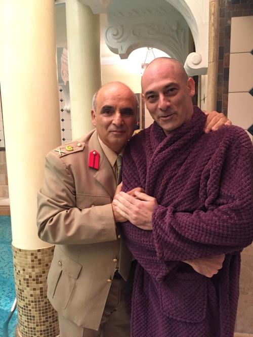 On set with Ashraf Barhom
