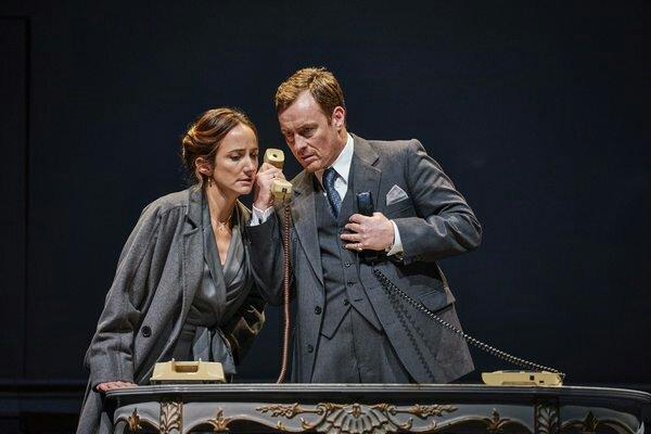 Lydia Leonard (Mona Juul) and Toby Stephens (Terje Rod-Larsen)