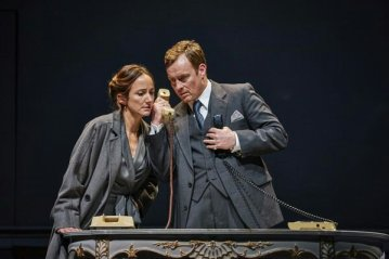 Lydia Leonard and Toby Stephens Oslo Lyttleton Theatre
