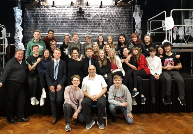 The Wirral Grammar Schools production of RENT cast.